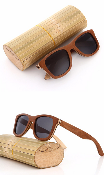 Premium Quality Jeans Style Sunglasses with a Natural Wooden Frame (9 colours) - Be the Boss