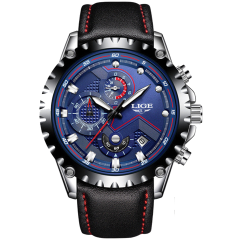 Blue Luxury Stainless Steel Waterproof Wristwatch - Be the Boss