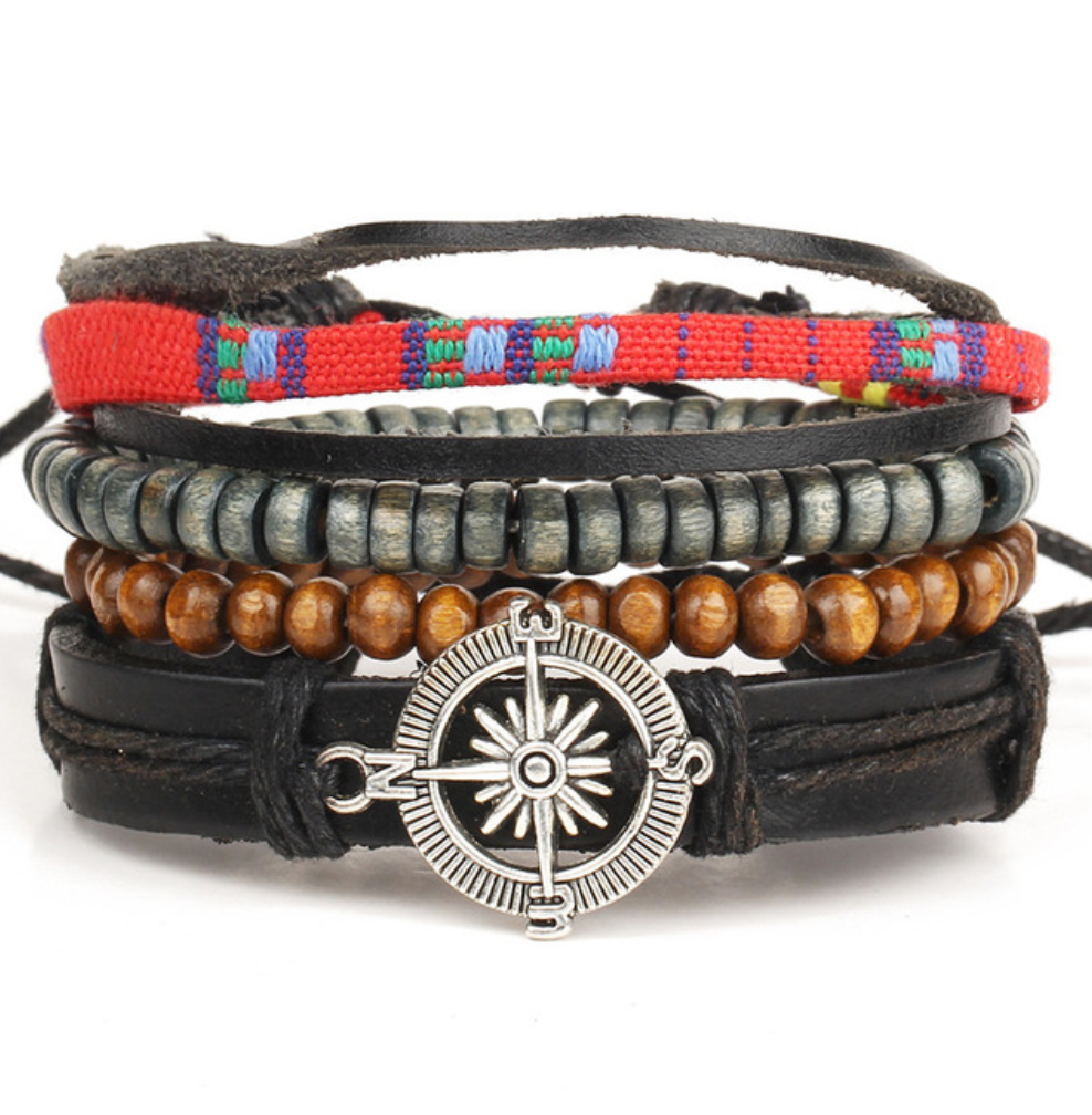 Handmade Сompass Multilayer Beaded Wrap Bracelets - Be the Boss