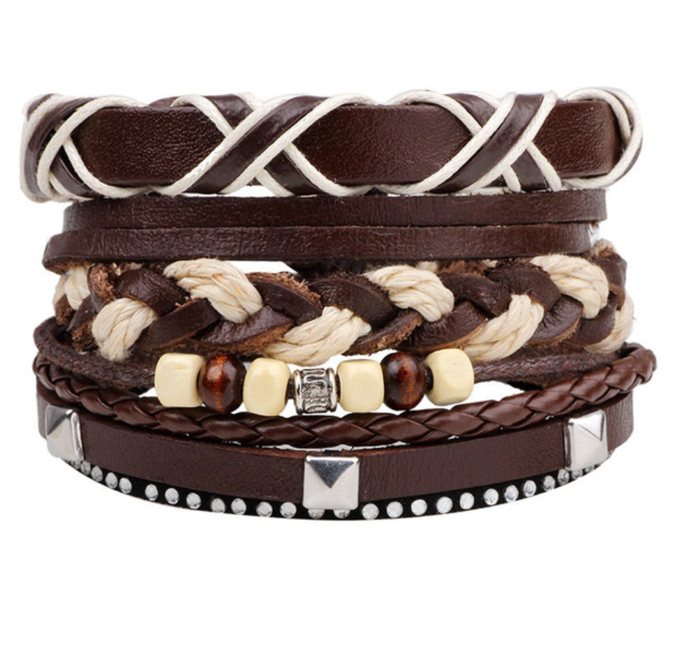 Handmade Brown Multilayer Beaded Wrap Bracelets - Be the Boss