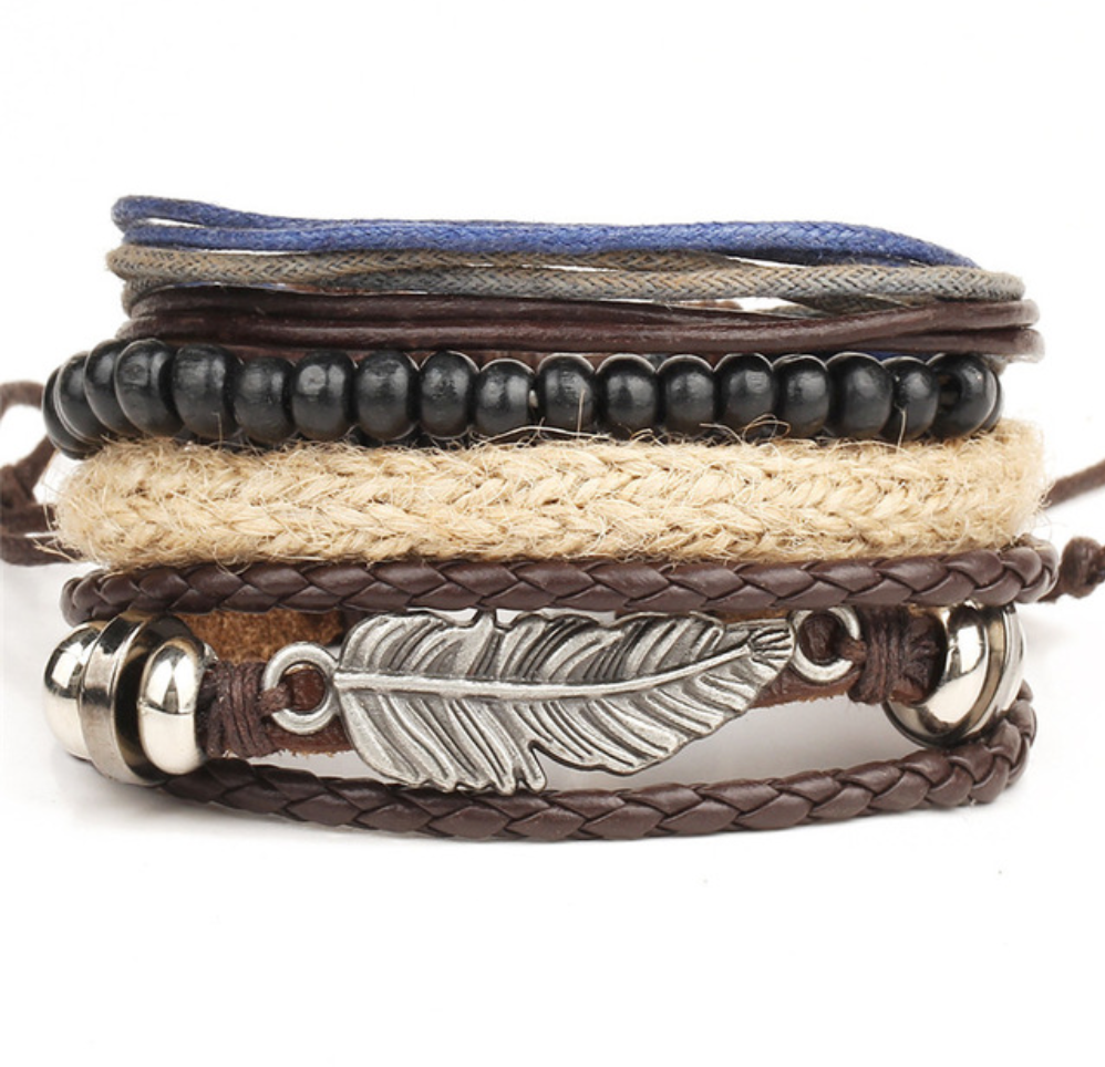 Handmade Leaf Multilayer Beaded Wrap Bracelets - Be the Boss