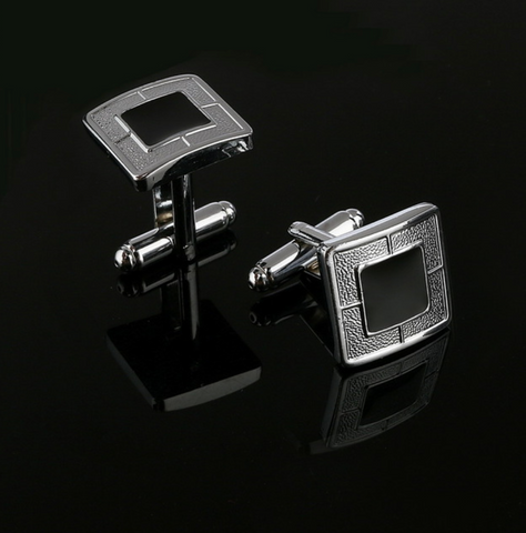 Black Silver Vintage Cufflinks - Be the Boss