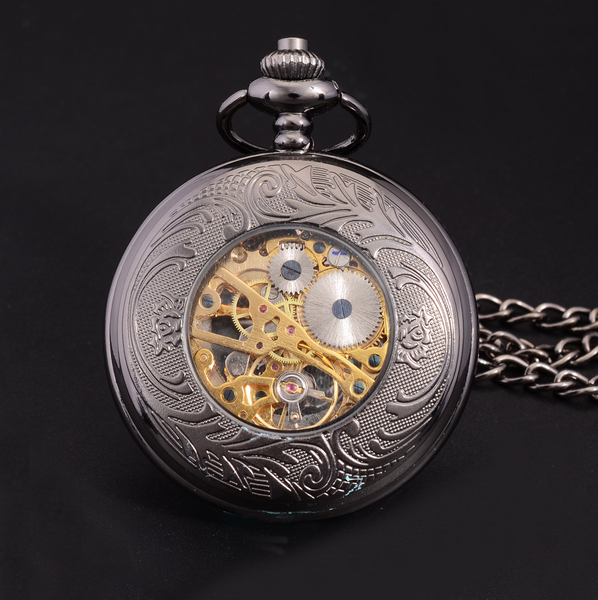 Pocket Watch Vintage Steampunk Skeleton + Gift Box - Be the Boss