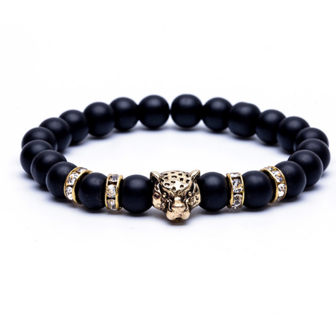 Classic Natural stone Beads Tiger Leopard Bracelet (2 colours) - Be the Boss
