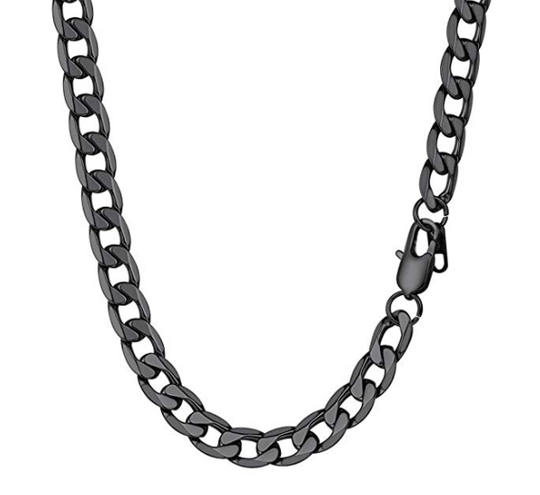 High Quality Black Titanium Steel Chain (4 sizes) - Be the Boss