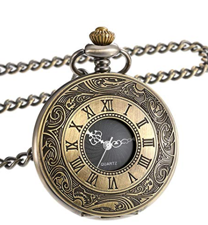Pocket Watch Vintage Roman Numerals Bronze Antique with a gift box - Be the Boss