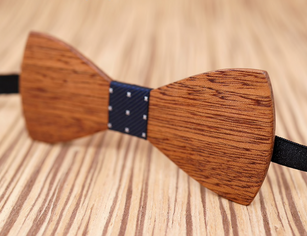 Mustache Handmade 100% Wooden Bow Tie for Men (4 colours) - Be the Boss