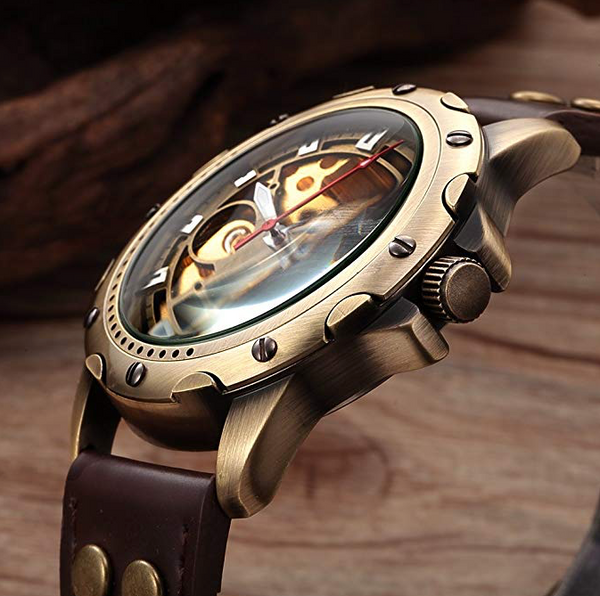 Vintage Bronze Case Steampunk Automatic Mechanical Skeleton Sport Wrist watch + Gift Box - Be the Boss