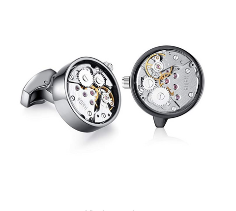 Deluxe Vintage Steampunk Watch Movement Cufflinks - Be the Boss