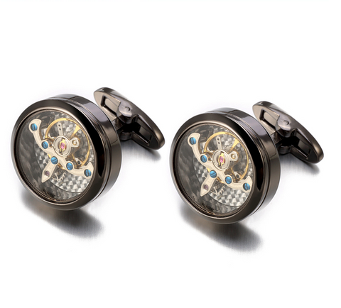 Elite Steampunk Watch Movement Cufflinks - Be the Boss