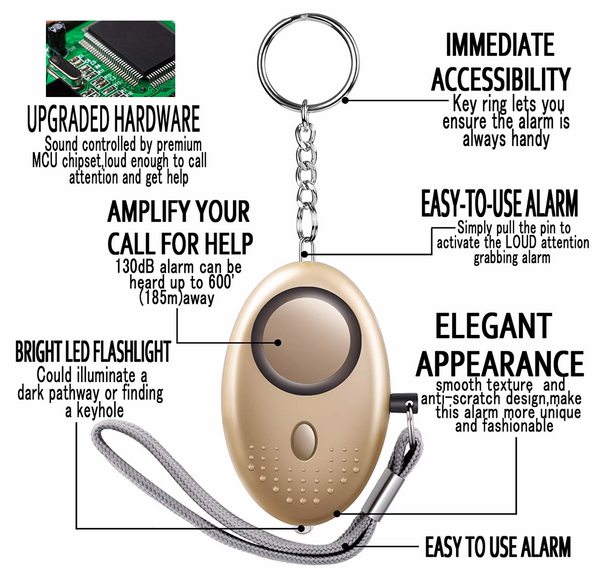 Personal Emergency Self Defense Security Alarm Keychain 140dB Pack of 3 - Be the Boss
