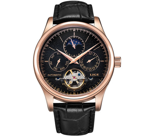Bronze Elite Automatic Mechanical tourbillon Stainless Steel Waterproof Wrist watch - Be the Boss