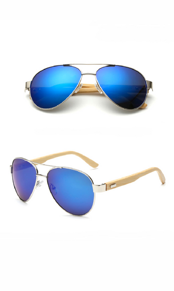 Simple Unisex Multicolour Sunglasses with a Classic Wooden Frame (6 colours) - Be the Boss