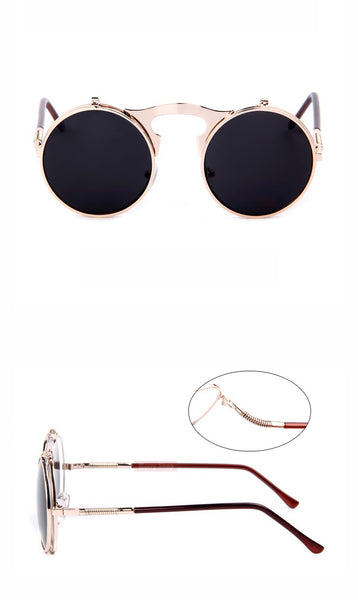 Designer Circle Sun Vintage Round Sunglasses (4 colours) - Be the Boss