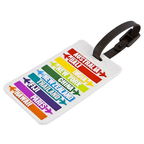 Hot Spot Countries Luggage Tag