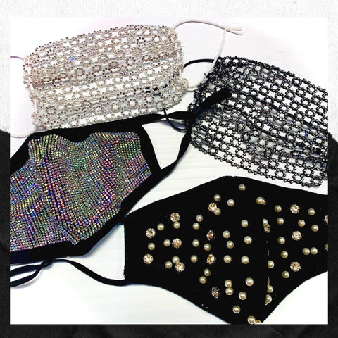 Sequin and Glitter Face Masks - 4 Pack