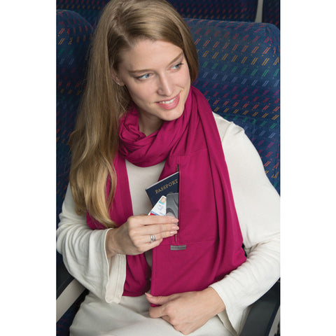 Travel Scarf with RFID Pocket