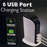 6 USB Port Charging Station