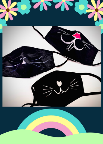 Cat & Bunny Face Mask - 3 Pack