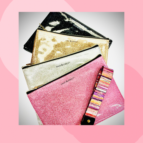 Sparkle Zippered Pouches