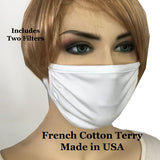French Cotton Terry Mask with Filters