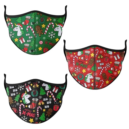 Assorted Christmas Adult Face Mask (3 Pack)