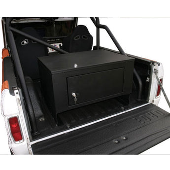 Tuffy Security Cargo Security Lockbox Black Rear - Jeep CJ
