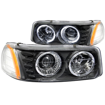 Anzo Projector Headlight Set w/Halo - 1999-2007 GMC Sierra 1500