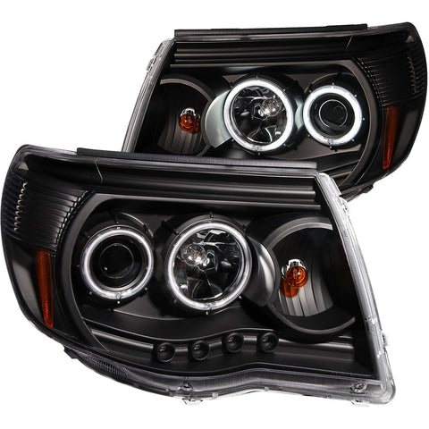 Anzo Projector Headlight Set w/Halo - 2005-2011 Toyota Tacoma