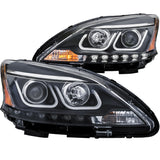 Anzo Projector Headlight Set - 2013-2015 Nissan Sentra