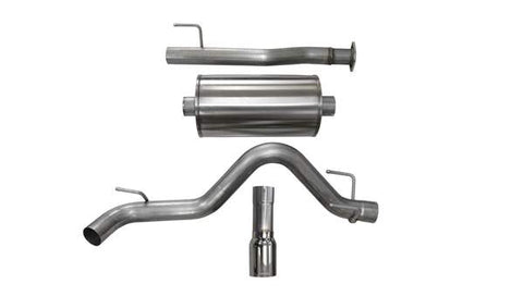 "Corsa 3"" Cat-Back Exhaust w/ Chrome Tip - 2016-2018 Toyota Tacoma"