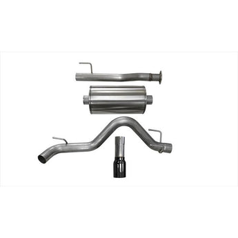 "Corsa 3"" Cat-Back Exhaust w/ Black Tip - 2016-2018 Toyota Tacoma"