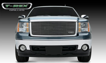 T-REX Billet Series, Insert Grilles - Polished - Requires Drilling or Cutting - 2007-2013 GMC Sierra