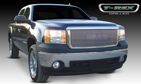 T-REX Billet Series, Insert Grilles - Polished - Can be installed as overlay without drilling or as an insert which requires drilling - 2007-2013 Sierra