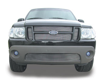 T-REX Billet Series, 4 Piece Insert Grilles - Polished - Requires Drilling or Cutting - 2001-2005 Explorer