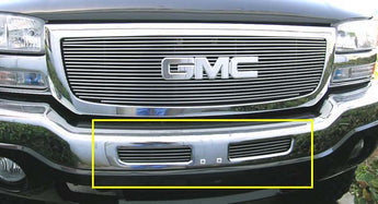 T-REX Billet Series, 2 Piece Bolt On Bumper Grille - Polished - 2003-2006 GMC 1500