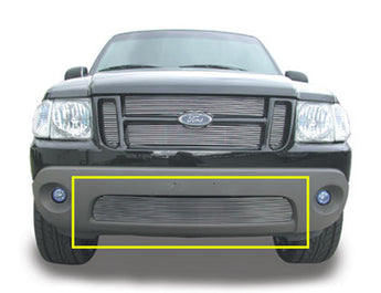 T-REX Billet Series, Insert Bumper Grille - Polished - Requires Drilling or Cutting - 2001-2005 Explorer