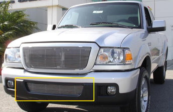 T-REX Billet Series, Bolt On Bumper Grille - Polished - 2006-2012 Ranger