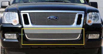 T-REX Billet Series, Bolt On Bumper Grille - Polished - 2006-2010 Explorer