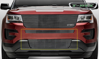 T-REX Billet Series, 2 Piece Insert Bumper Grille - Requires Drilling or Cutting - 2016-2018 Explorer