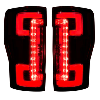 Recon LED Tail Lights - Dark Red Smoked Lens - 2017-2019 Ford F250/F350/F450
