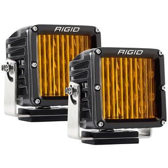 Rigid Industries SAE J583 Compliant Selective Yellow Fog Light Pair D-XL Pro Street Legal Surface Mount