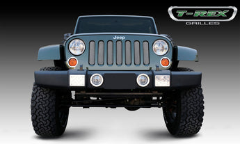 T-REX Sport Series, Bolt On Grilles - Chrome - 2007-2017 Jeep JK