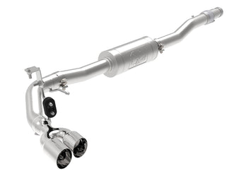 "AFE Rebel Series 3"" 304 Stainless Steel Cat-Back Exhaust System (Stainless Tips) - 2019 Ford Ranger"