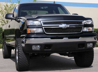 T-REX Upper Class Series, 2 Piece Overlay Grilles - Powdercoat - 2003-2005 Chevy Silverado