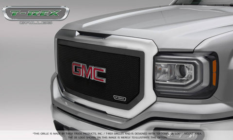 T-REX Upper Class Series, 1 Piece Insert Grilles - Powdercoat - Requires Drilling or Cutting - 2016-2018 GMC 1500
