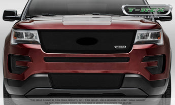 T-REX Upper Class Series, Insert Grilles - Powdercoat - Requires Drilling or Cutting - 2016-2018 Explorer