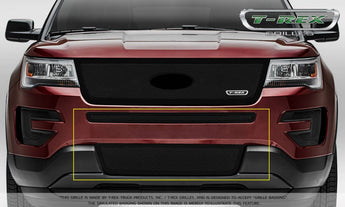 T-REX Upper Class Series, 2 Piece Overlay Bumper Grille - Powdercoat - 2016-2018 Explorer