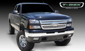 T-REX Upper Class Series, 2 Piece Overlay Grilles - Polished - 2005-2006 Silverado