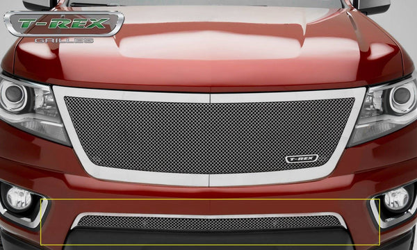 T-REX Upper Class Series, 1 Piece Overlay Bumper Grille - Polished - 2015-2018 Colorado